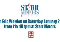 Join Eric at Starr Motors