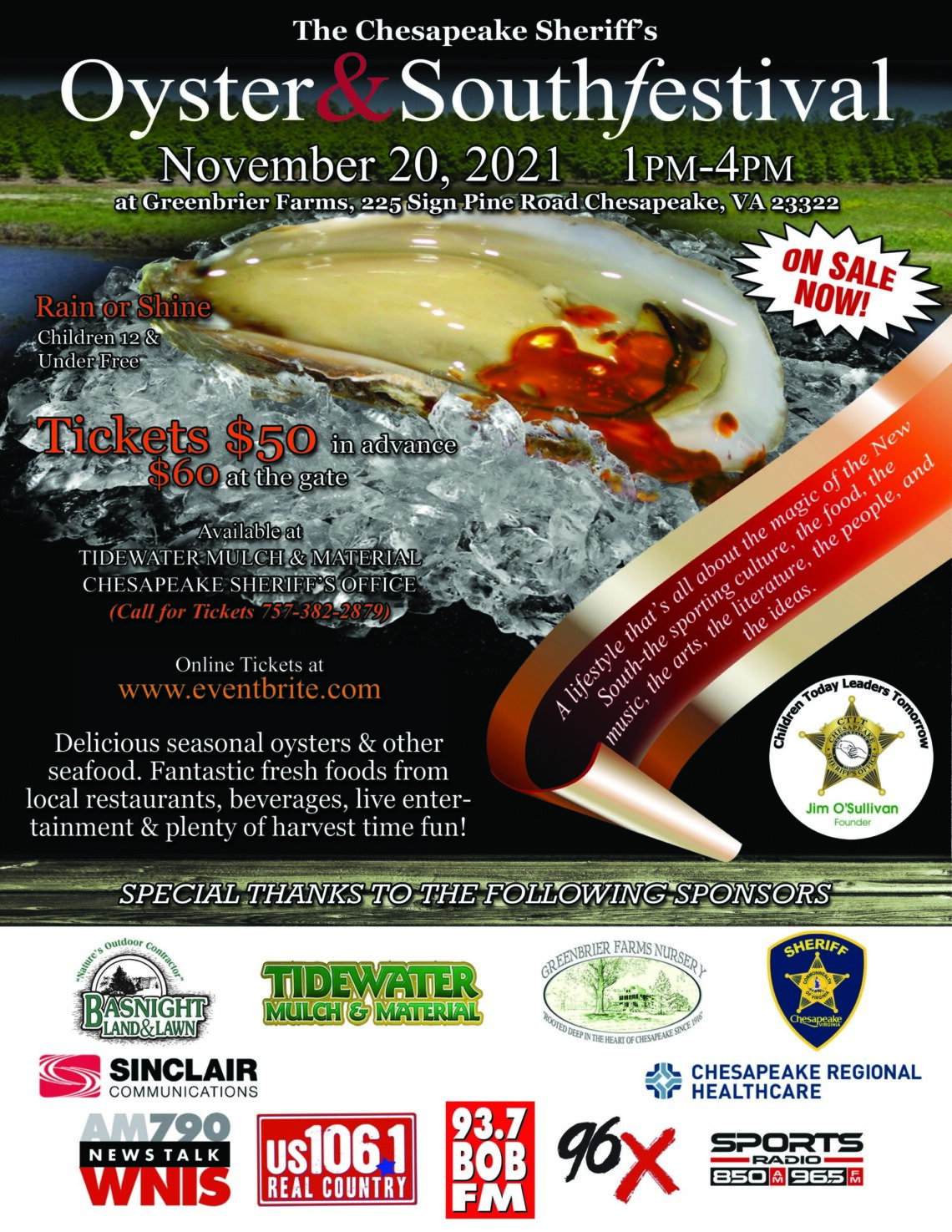 The Chesapeake Sheriff's Oyster and South Festival